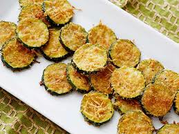 zucchini crisps on a plate